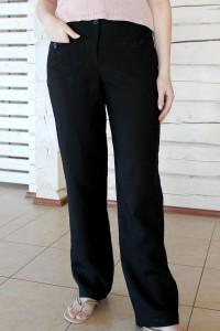 Black linen womens trousers