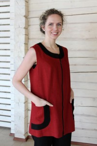 tunic with a zip