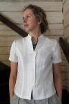 White linen women\\'s shirt