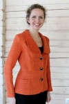 Ladies slim fit linen jacket