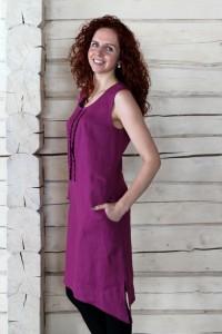 Sleeveless linin dress
