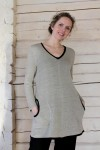 knitted linen tunic