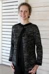 Knitted women linen jacket