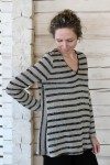 Striped knitted ladies linen jumper