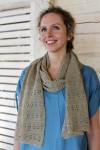 Long linen pattern knitted scarf
