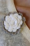 Crocheted accessory, rose brooch