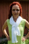 white wrinkly linen scarf