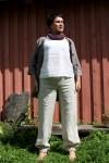 kelnės su elastine guma