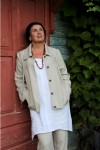 Ladies natural linen jacket