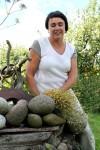 Short sleeve linen knit top