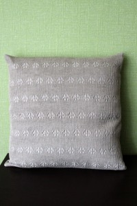 Knitted linen cushion cover