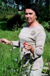 Stripe knitted linen jumper