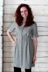 Persagstoma linine suknelė