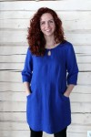 Blue Tunic With Large Pockets
