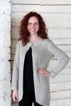 Long Natural Linen Cardigan