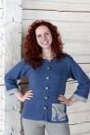 Button-Up Linen Cardigan