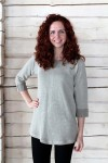Natural Linen Tunic with Fabric Decorations