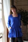 Mėlynas Lininė Tunika