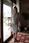 Natūralus lininis sijonas