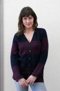 Moteriškas lininis megztinis