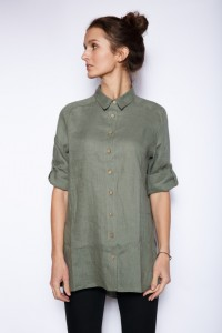 Lininiai moteriški marškiniai