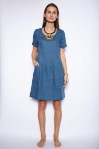 Shortsleeve linen dress