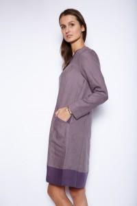 Longsleeve linen tunic dress