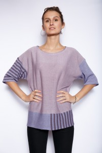 Knitted poncho top