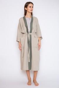 Linen women bath robe