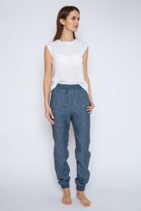 Elasticwaist linen pants