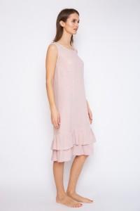 Ruffled linen dress