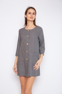 Long linen women jacket