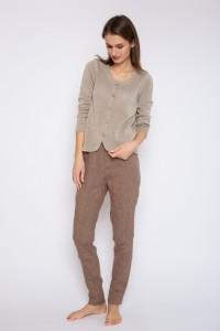 Natural linen cardigan