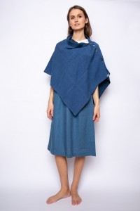 Two Side Linen Poncho