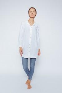Long White Linen Shirt