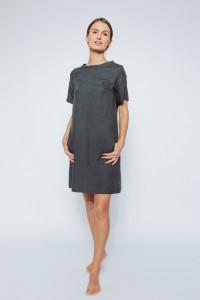 Elegant Short Sleeve Linen Dress