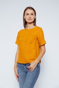 Short Sleeve Linen Blouse