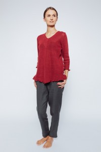 Knitted Linen Tunic Top