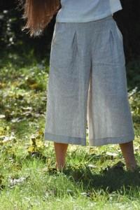 High-Rise Linen Cullotes