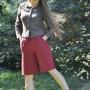Long Linen Shorts